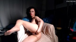 Brunette Hardcore Fucking Herself With Toys And Jerking Off Anal SBS052