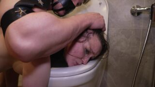Daddy punishes little Baby Bamby! Physical destruction, dirty toilet, brush in pussy NRX115